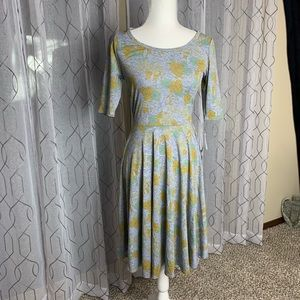 LuLaRoe Floral Print Nicole Dress Size Small